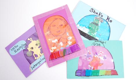 Двигаюшиеся открытки с детьми своими руками
