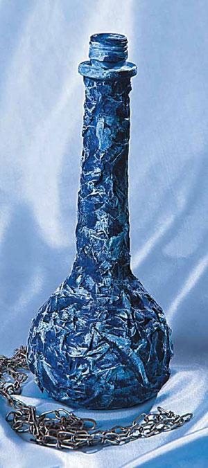 Мастер-класс: бутылка плюс заплатка. Украшаем изделия из стекла