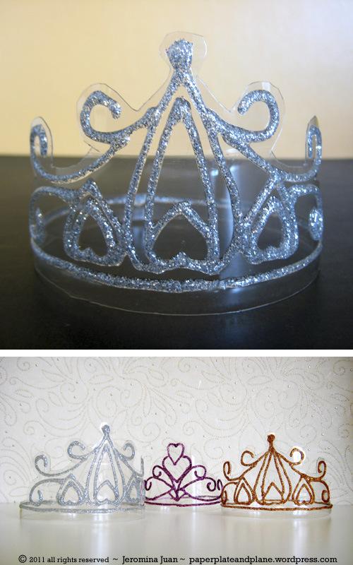 Корона из мишуры своими руками фото