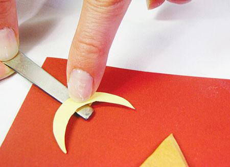 Новогодняя открытка своими руками. ''Зимний домик''