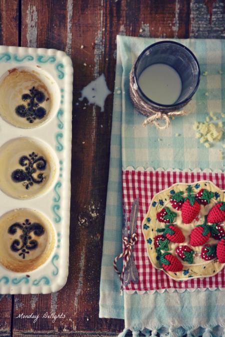 Маффины с имбирем и ванильное молоко с инжиром - вкусно и уютно