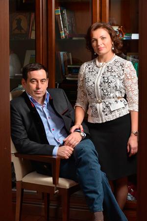 Роман Авдеев с супругой Еленой