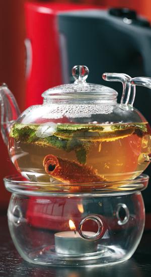 Чай с имбирем, соком зеленого яблока и медом
