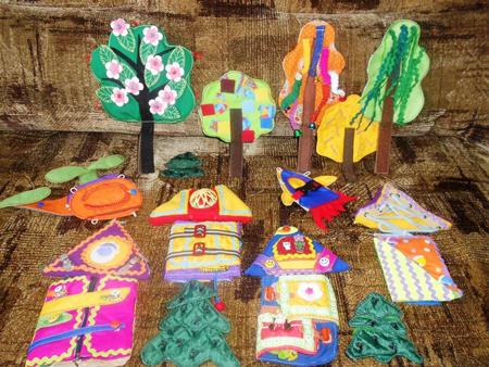 Машинки, домики, деревья – развивающие игрушки своими руками