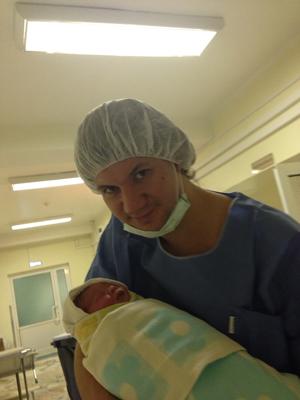 Муж Ирины Муромцевой с дочкой