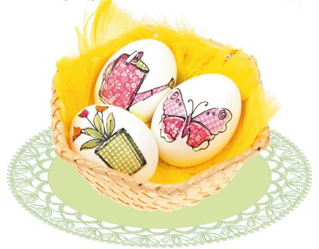 Пасха: поделки своими руками. Декупаж яиц и украшение-подставка