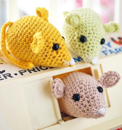 вязаные игрушки своими руками амигуруми мышки и кошка вязание
