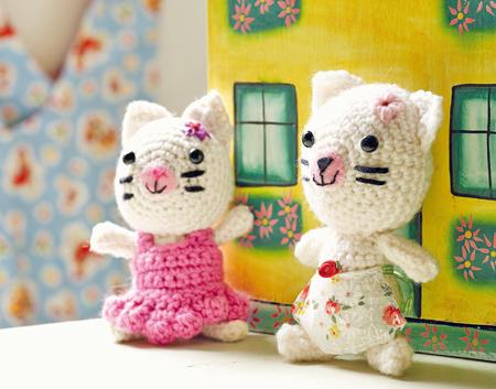 Вязаные игрушки своими руками. Амигуруми - мышки и кошка