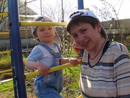 Елизавета Блинова с сыном