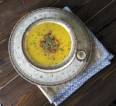 Суп-пюре из лисичек с эстрагоном