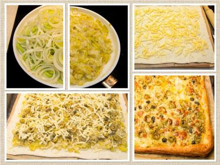 Рецепт пирога: оливки, каперсы и лук-порей. Вкус отпуска