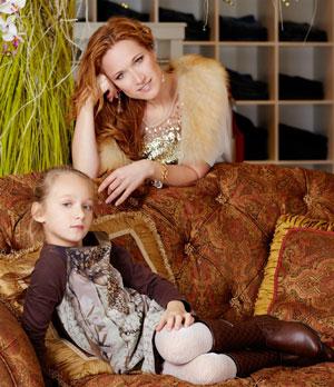 Мария Киселева с дочкой