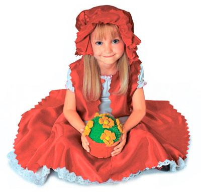 Новогодний костюм для девочки своими руками: Красная Шапочка