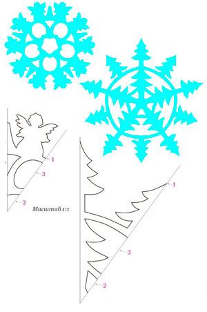 Поделки из бумаги – снежинка оригами