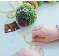 Игрушки своими руками: такса из колготок и гусеница из помпонов