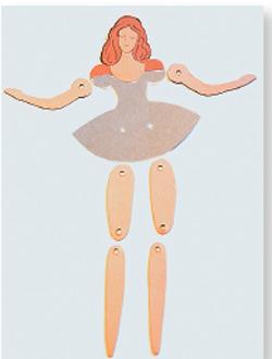 Шарнирная бумажная кукла своими руками 84