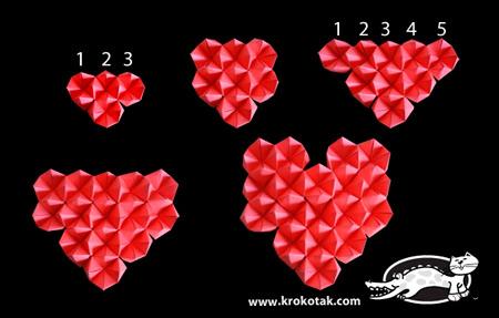 2 сердечка: мастер-класс с детьми ко дню Валентина и шаблон