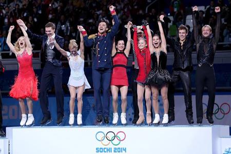 Победители командных соревнований по фигурному катанию в Сочи 2014