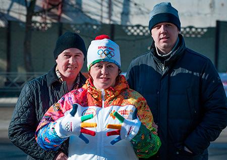 Родители Евгения с братом Денисом