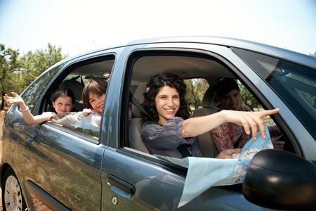 Переезды с детьми на машине