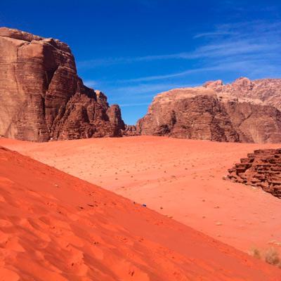 Иордания: пустыня Вади Рам - день на верблюде и ночь в палатке