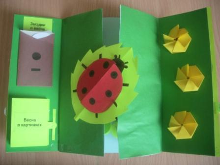 Малышам о весне: книжка-открытка своими руками