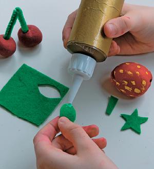 Фрукты из соленого теста - для игры и украшения: мастер-класс