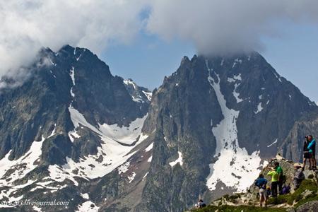 Вершина Aiguille de Mesure в долине Шамони
