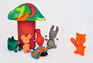 Во что играть с ребенком 2 лет? Любимые герои - из пластилина