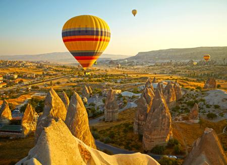 Турция в октябре: Каппадокия. Без моря, но на воздушном шаре