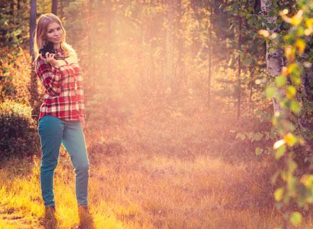 Осенняя фотосъемка на природе
