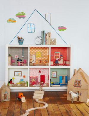 Кукольный дом из книжной полки: идея и мастер-класс