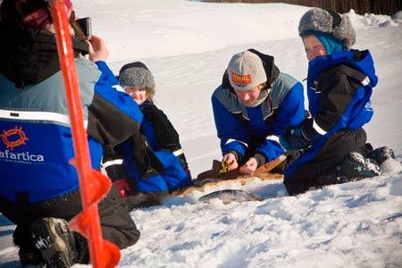 Рыбалка зимой - Надо попробовать того, спичка