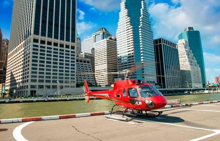 на вертолете над Нью-Йорком