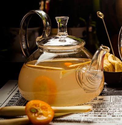 Холодный чай «Каркаде с кумкватом и имбирем» – кулинарный рецепт