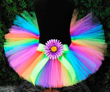 Разноцветная юбка туту своими руками