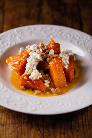 2 зимних рецепта: тирамису с вишней и тыква с медом и орехами