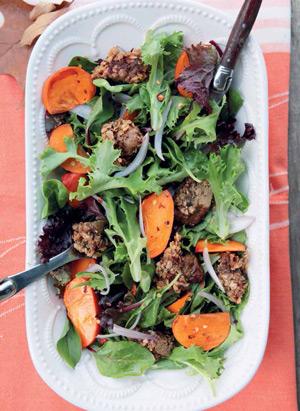 Новогодние рецепты: утка в духовке и теплый салат с хурмой