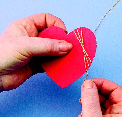 Сердце в технике изонить - схема, фото