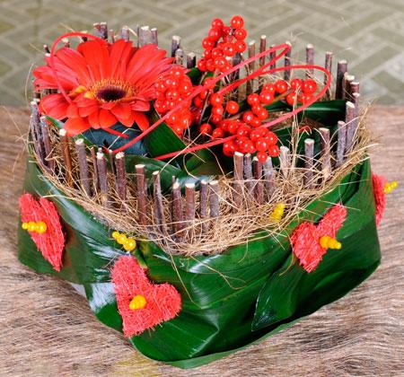 Сердце с цветами на День святого Валентина