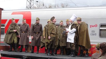 Ретро-поезд ''Победа'' в нашем городе: фоторепортаж