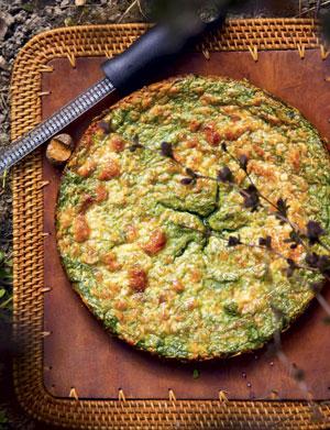 2 итальянских завтрака: пирог со шпинатом и фриттата с зеленью