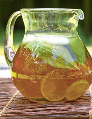 Лимонад с базиликом и лаймом
