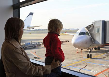 В самолете с двумя детьми
