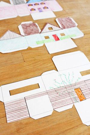 Домики из бумаги