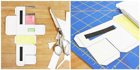 домик из бумаги шаблоны для распечатки