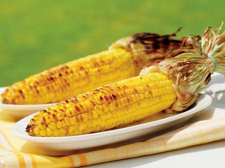 Кукурузные початки в глазури из имбиря и лайма