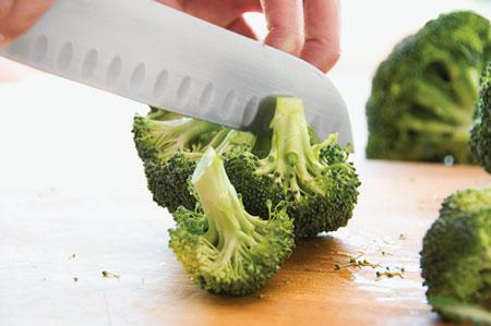 Овощи на мангале - брокколи