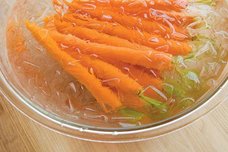 Рецепты на гриле - молодая морковь