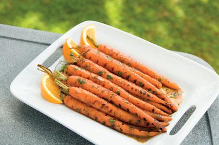 Морковь в апельсиновой глазури